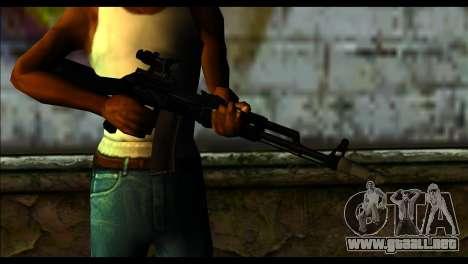 AK-101 ACOG para GTA San Andreas tercera pantalla