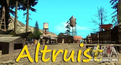 El Altruista campamento en el monte Chiliad para GTA San Andreas