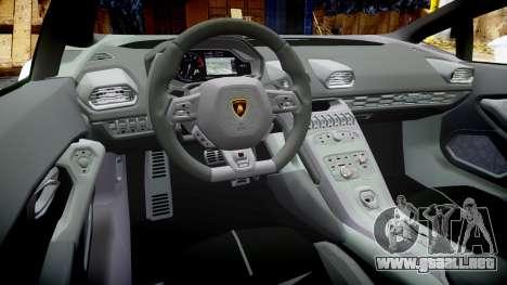 Lamborghini Huracan LP610-4 para GTA 4 vista hacia atrás