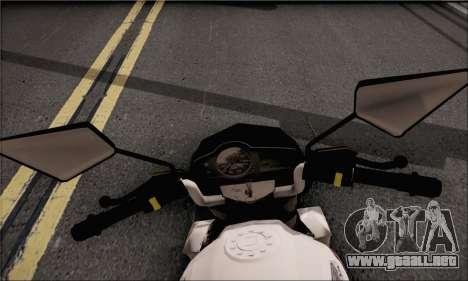 Honda Verza 150 para GTA San Andreas vista posterior izquierda