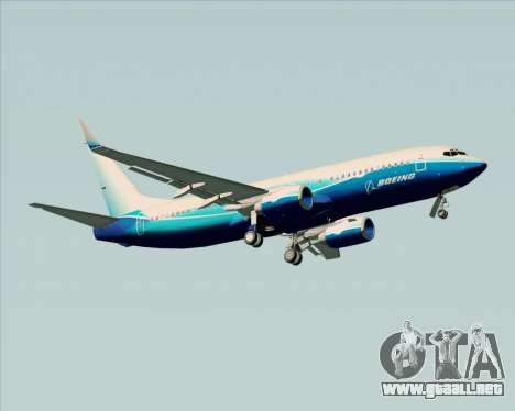 Boeing 737-800 House Colors para la visión correcta GTA San Andreas