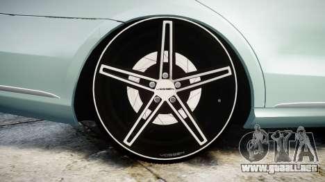 Mercedes-Benz E200 Vossen VVS CV5 para GTA 4 vista hacia atrás