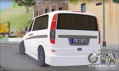 Mercedes-Benz Vito Vip para GTA San Andreas left