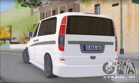 Mercedes-Benz Vito Vip para GTA San Andreas left