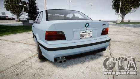BMW M3 E36 para GTA 4 Vista posterior izquierda
