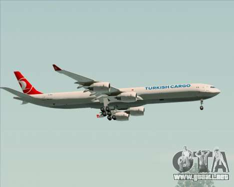 Airbus A340-600 Turkish Cargo para vista lateral GTA San Andreas