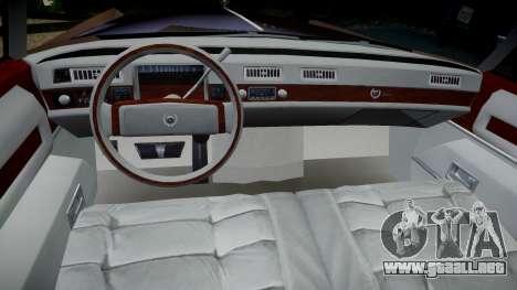 Cadillac Eldorado 1978 para GTA 4 vista hacia atrás