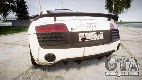Audi R8 LMX 2015 [EPM] Cobweb para GTA 4 Vista posterior izquierda