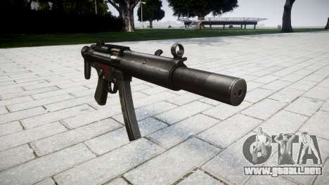 Pistola de MP5SD RO CS para GTA 4