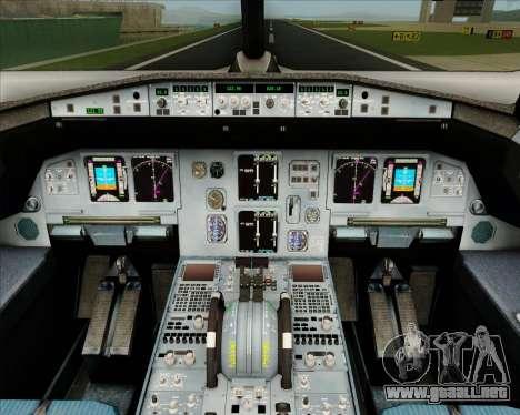 Airbus A320-200 IndiGo para GTA San Andreas interior