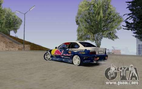 BMW E36 Red Bull para GTA San Andreas left