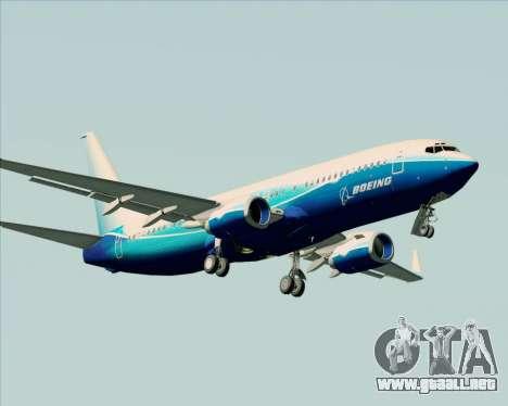 Boeing 737-800 House Colors para la vista superior GTA San Andreas