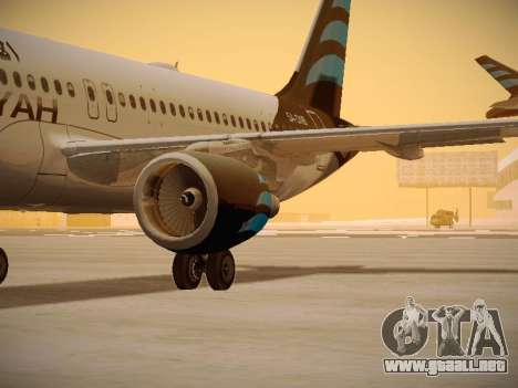 Airbus A320-214 Afriqiyah Airways para visión interna GTA San Andreas