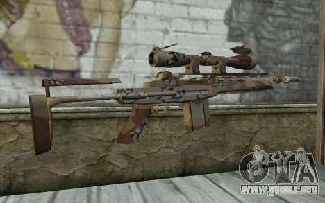 M14 EBR Chipdesert para GTA San Andreas segunda pantalla