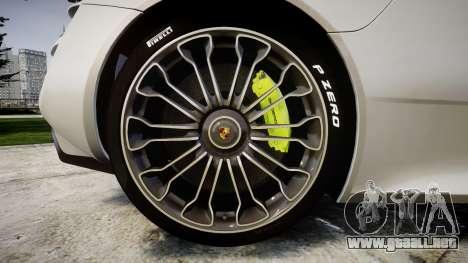 Porsche 918 Spyder 2014 para GTA 4 vista hacia atrás