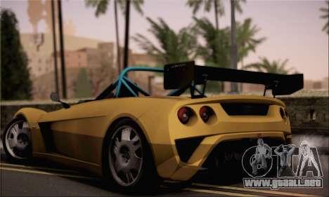 Lotus 2 Eleven (211) para GTA San Andreas left