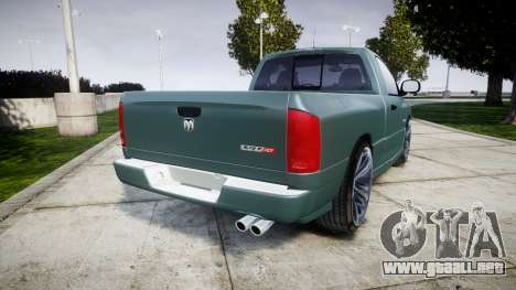 Dodge Ram para GTA 4 Vista posterior izquierda