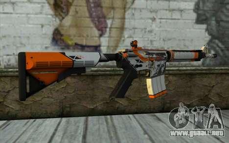 M4A4 from CS:GO para GTA San Andreas segunda pantalla