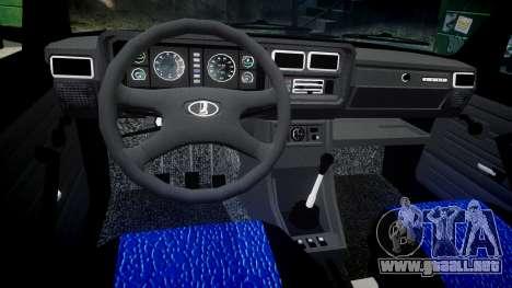 VAZ-2107 mejor modelo para GTA 4 vista interior