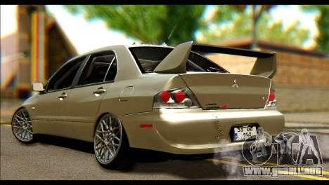 Mitsubishi Lancer Evolution IX JDM para GTA San Andreas left