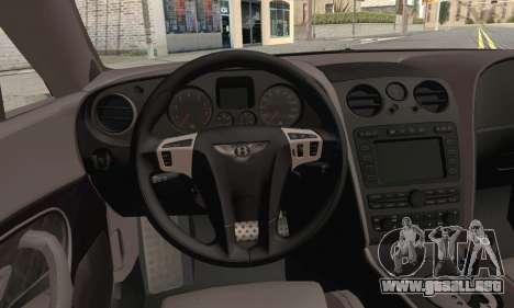 Bentley Continental Supersports para GTA San Andreas vista posterior izquierda