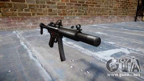 Pistola de MP5SD DRS FS b de destino para GTA 4
