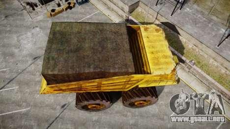 Mining Truck para GTA 4 visión correcta