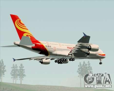 Airbus A380-800 Hainan Airlines para GTA San Andreas vista hacia atrás