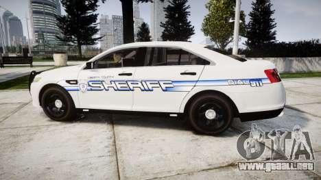 Ford Taurus 2014 [ELS] Liberty County Sheriff para GTA 4 left