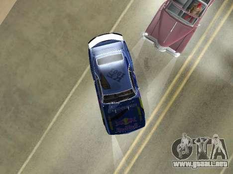 Chevrolet Camaro SS RedBull para GTA San Andreas vista hacia atrás