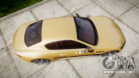 Maserati GranTurismo S 2010 PJ 1 para GTA 4 visión correcta
