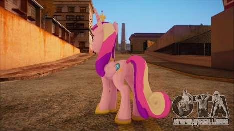 Cadence from My Little Pony para GTA San Andreas segunda pantalla