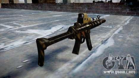 Pistola de MP5SD EOTHS FS c de destino para GTA 4 segundos de pantalla