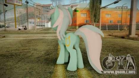 Lyra from My Little Pony para GTA San Andreas segunda pantalla