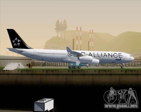 Airbus A340-300 All Nippon Airways (ANA) para GTA San Andreas vista hacia atrás