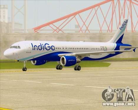 Airbus A320-200 IndiGo para GTA San Andreas left