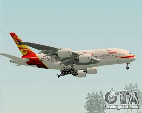 Airbus A380-800 Hainan Airlines para la visión correcta GTA San Andreas