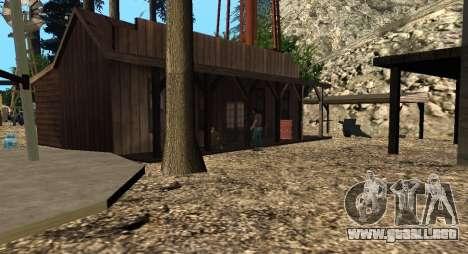 El Altruista campamento en el monte Chiliad para GTA San Andreas quinta pantalla