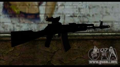 AK-101 ACOG para GTA San Andreas segunda pantalla