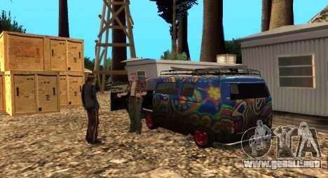 El Altruista campamento en el monte Chiliad para GTA San Andreas tercera pantalla