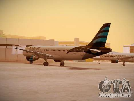 Airbus A320-214 Afriqiyah Airways para la visión correcta GTA San Andreas