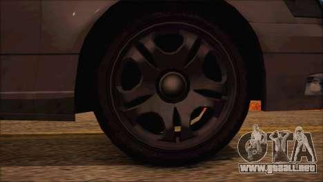 GTA 5 Intruder para GTA San Andreas vista posterior izquierda