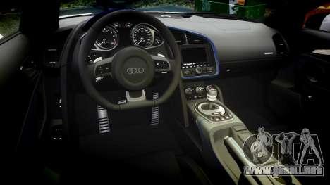 Audi R8 LMX 2015 [EPM] Carbon Series para GTA 4 vista interior