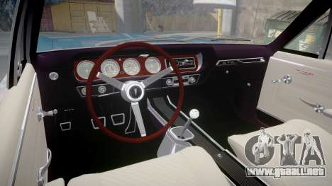 Pontiac GTO 1965 Sharpie para GTA 4 vista hacia atrás