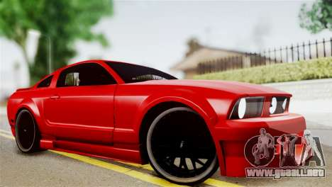 Ford Mustang GT 2012 para GTA San Andreas vista posterior izquierda