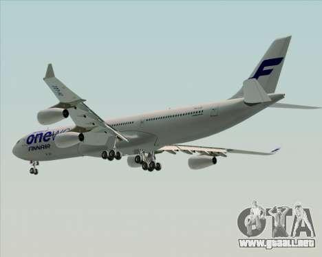 Airbus A340-300 Finnair (Oneworld Livery) para las ruedas de GTA San Andreas