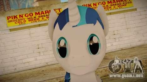 Shining Armor from My Little Pony para GTA San Andreas tercera pantalla