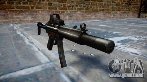 Pistola de MP5SD EOTHS FS b de destino para GTA 4