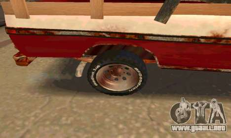 Ford PickUp Rusted para GTA San Andreas vista hacia atrás