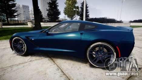 Chevrolet Corvette C7 Stingray 2014 v2.0 TirePi1 para GTA 4 left